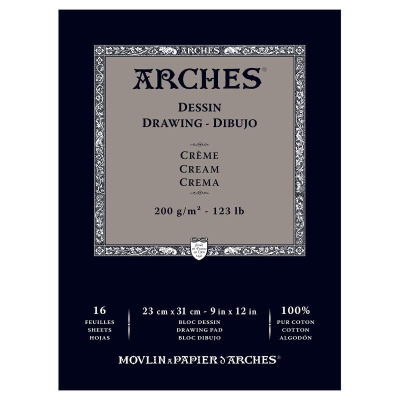 Arches Drawing 畫家級素描簿(米白) 200克 16頁