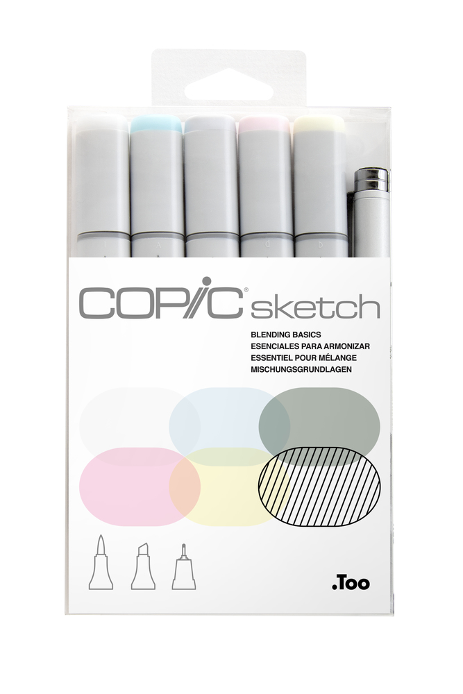 Copic sketch麥克筆6枝裝-Blending Basics
