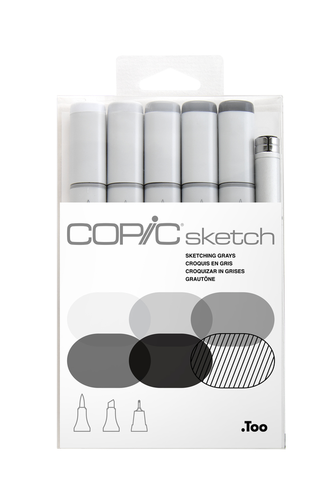 Copic sketch麥克筆6枝裝-Sketching Grays